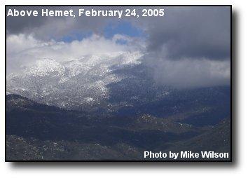 Mount San Jacinto Storm