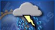 Thunderstorms, Mostly sunny