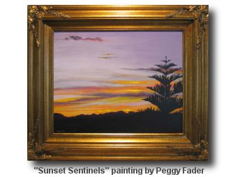 Sunset Sentinels Painting