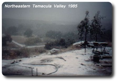 Temecula Valley Snow - 1985